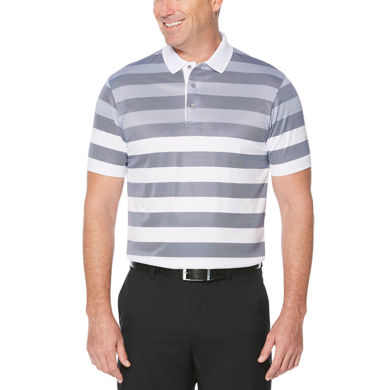 Engineered Rugby Stripe Short Sleeve Polo Golf Shirt