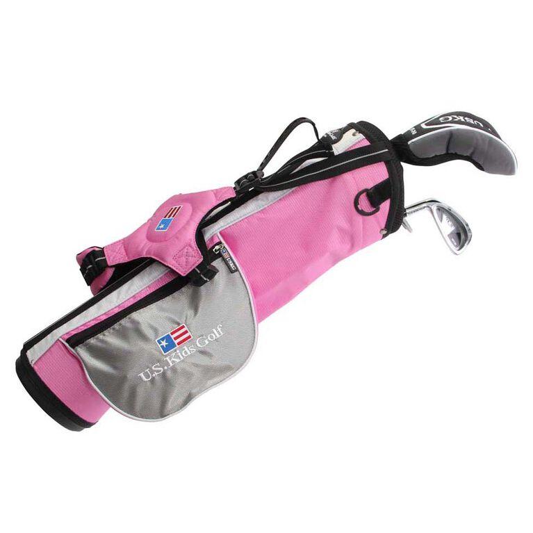US Kids Ultra Light Series 39H 3 Club Set w/Carry Bag- Pink
