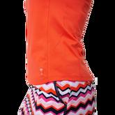 Alternate View 1 of Sleeveless Zip Stretch Polo Shirt