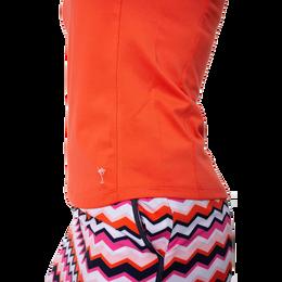 Sleeveless Zip Stretch Polo Shirt