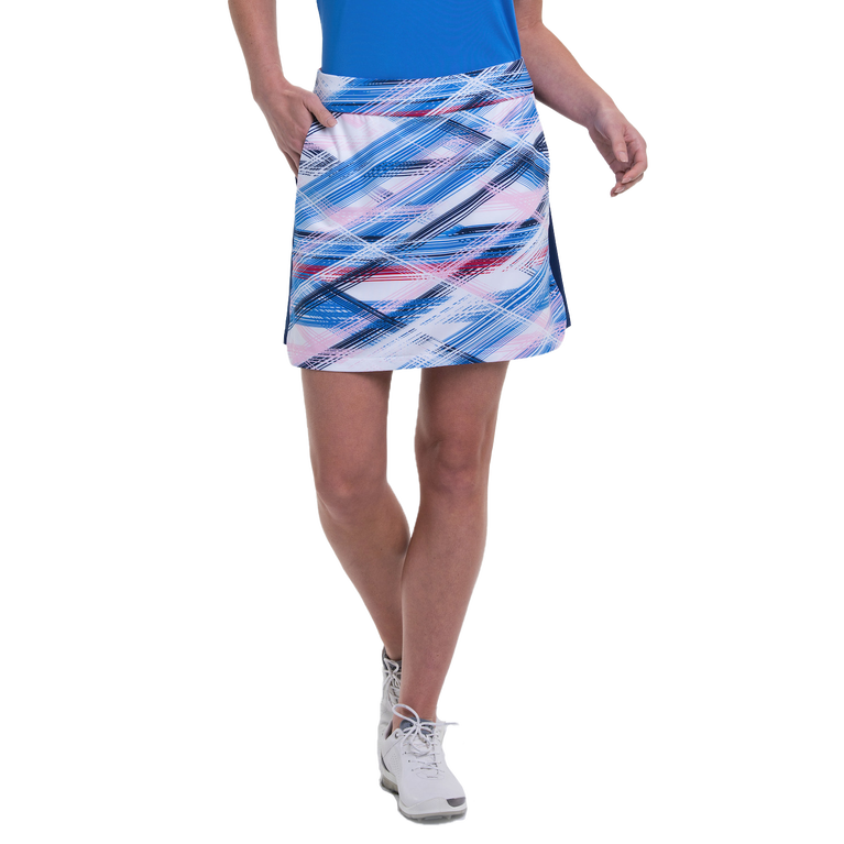 American Beauty Collection: Crossed Etched Plaid Pull-On Skort