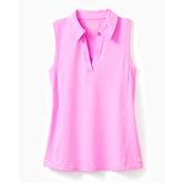 Imara Luxletic Sleeveless Polo Top
