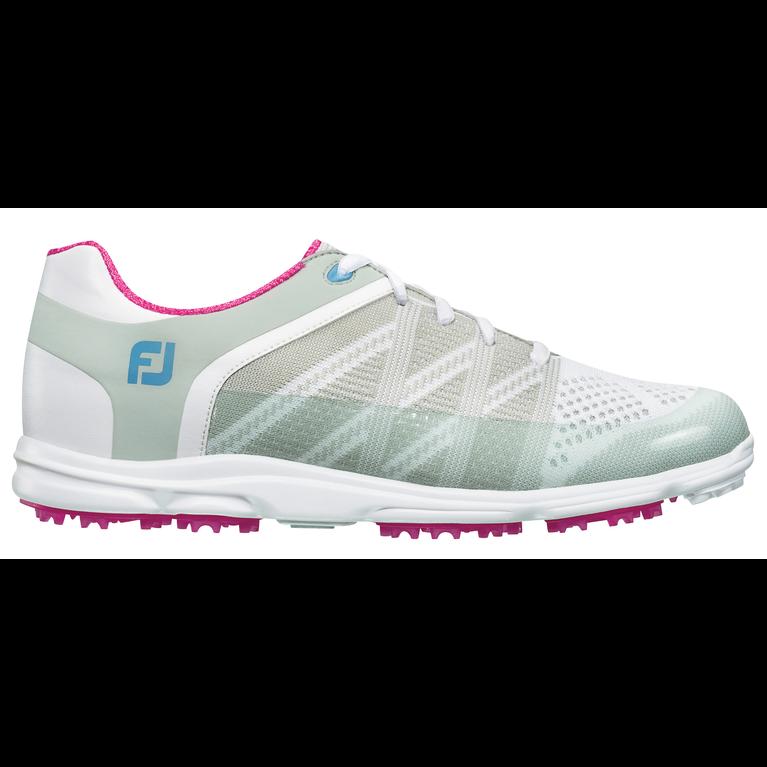 FooJoy Sport SL Women's Golf Shoe - White/Grey