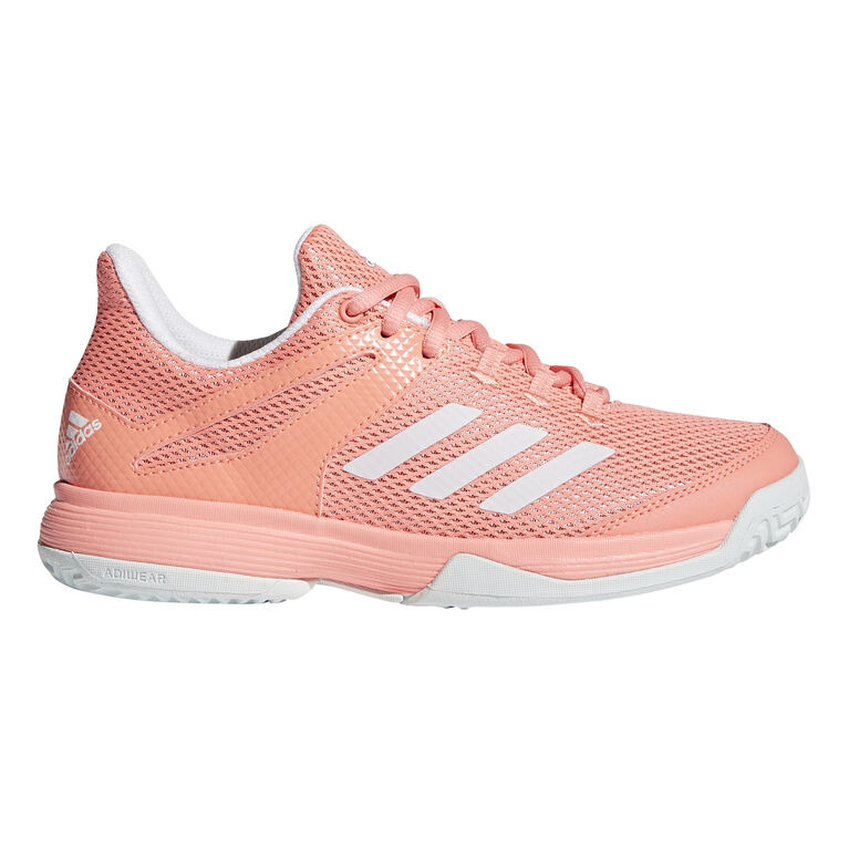 adidas adizero Club K Junior's Tennis Shoe - Coral