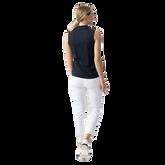 Alternate View 1 of Macy Sleeveless Zip Polo Shirt