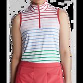 Alternate View 3 of Rainbow Stripe Sleeveless Quarter Zip Polo