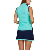 Alternate View 1 of Speed Lines Collection: Sleeveless Sporty Zip Tank Top