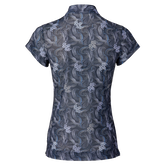 Alternate View 1 of Luisa Short Sleeve Print Mesh Polo Shirt