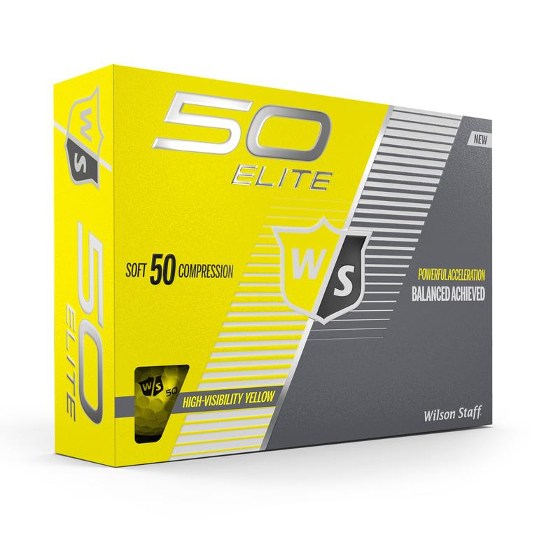 Fifty Elite Yellow Golf Balls