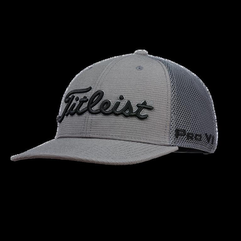 New Titleist 2018 Men Tour Snapback Hat Black Semi-curved Bill Baseball Cap OSFA