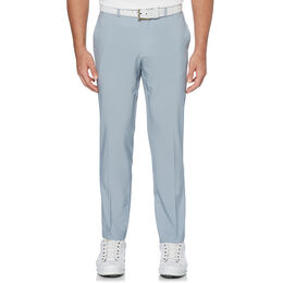 Flat Front Printed Tech Herringbone Pant With Active Waistband