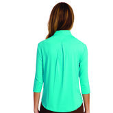 Jamie Sadock 3/4 Sleeve Chest Detail Topve Chest Detail Top