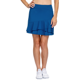 Tranquil Bay Collection: Fit and Flare Pull On Ruffled Skort