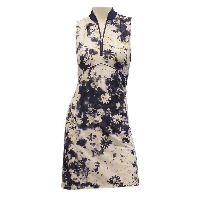 EP Pro Sleeveless Blurred Daisy Print Dress