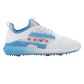 Limited Edition IGNITE PWRADAPT CAGED CTA Men's Golf Shoe - White/Blue