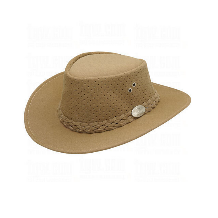 Aussie Chiller Bushie Perforated Hat- Camel