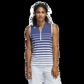 Alternate View 1 of Striped Sleeveless Polo Shirt