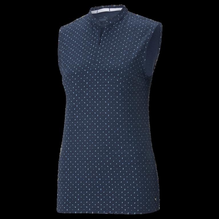 Cloudspun Polka Dot Sleeveless Polo Shirt