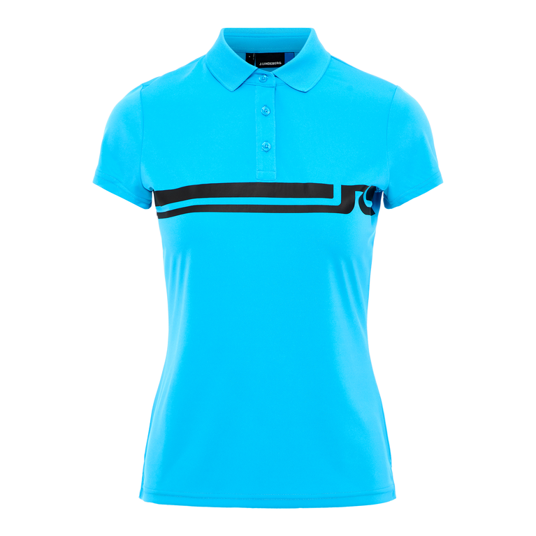 Black and Blue Collection: Orla Chest Stripe Jersey Polo