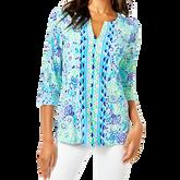 Karina Blue Ibiza 3/4 Sleeve Print Tunic