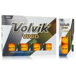 Volvik VIVID Golf Balls - Sherbert Orange