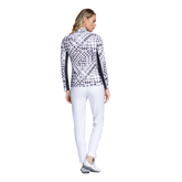 Alternate View 2 of Fun in the Sun Collection: Gingham Print Long Sleeve Quarter Zip Pull Over