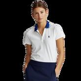 Short Sleeve Contrast Collar Piqué Polo Shirt