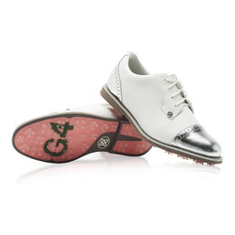 Cap Toe Gallivanter Women's Golf Shoe - White/Silver