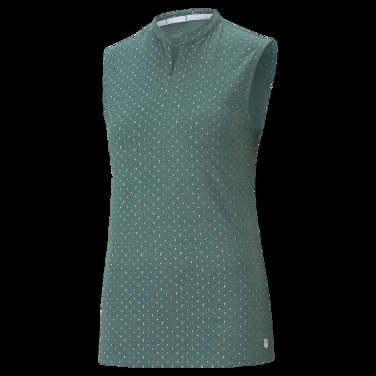 Polka Dot Cloudspun Sleeveless Polo Shirt