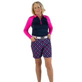 """Alternate View 1 of Rojito Collection: Playoff Plaid 7.5"""" Golf Short"""