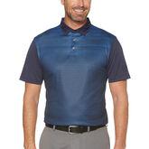 PGA TOUR Short Sleeve Blurred Tech Geo Tonal Printed Polo