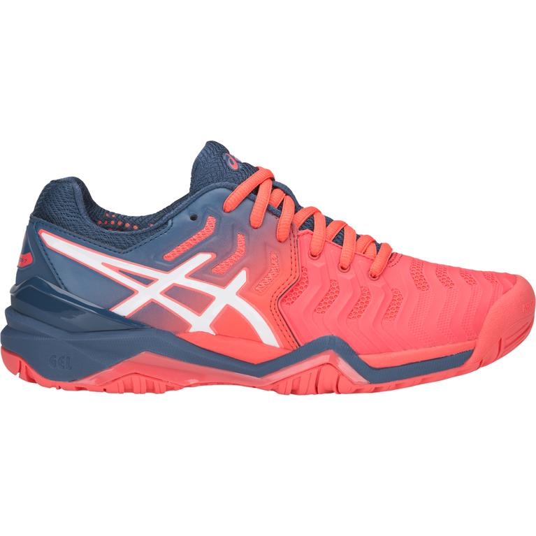 GEL-Resolution 7 Women's Tennis Shoe - Navy/Pink