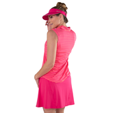 Alternate View 6 of Pink Lady Collection: Sleeveless Striped Polo Shirt