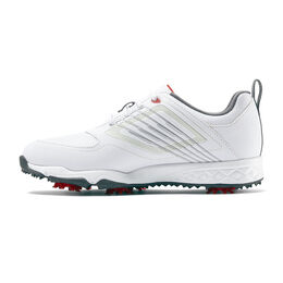 FJ Fury Junior Golf Shoe - White/Silver