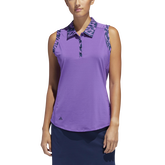 Ultimate365 Printed Sleeveless Polo Shirt