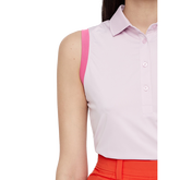 Alternate View 4 of Pink Group: Sleeveless Yvonne Compression Polo