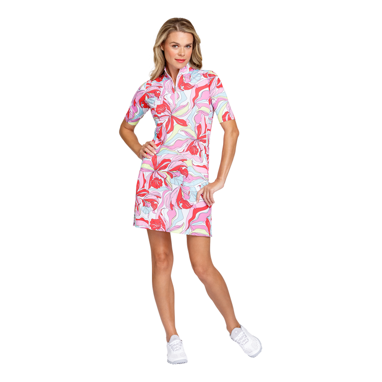 Fun in the Sun Collection: Zaya Painted Petals Elbow Sleeve Dress