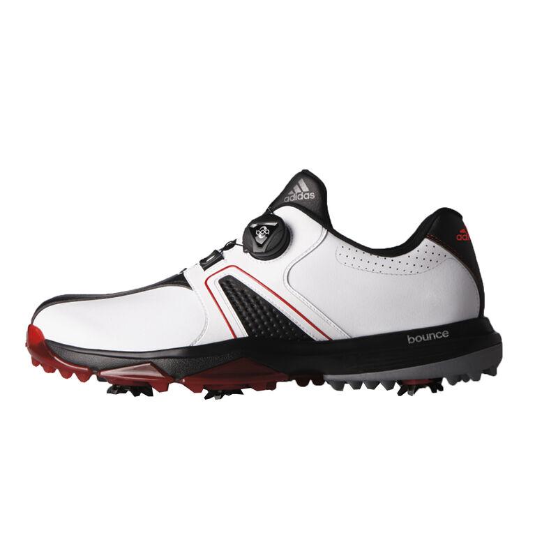 adidas 360 Traxion BOA Men's Golf Shoe - White/Black/Red