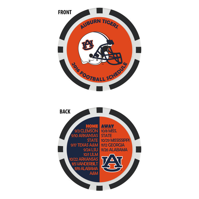 Team Effort Auburn Football Schedule Ball Marker