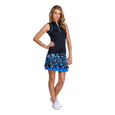 Alternate View 1 of Pacific Vista Collection: Louisa Sleeveless Piped Zip Top