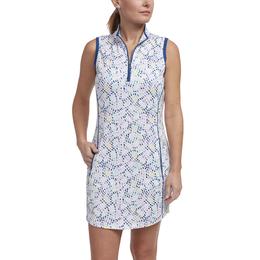 Limelight Collection: Sleeveless Dot Print Dress