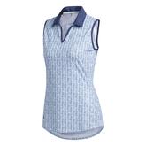 Alternate View 1 of Ultimate365 Printed Sleeveless Polo Shirt