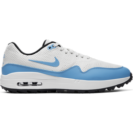 Air Max 1 G Men's Golf Shoe - White/Carolina Blue