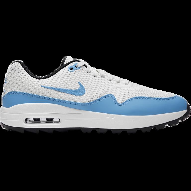 Air Max 1 G Men's Golf Shoe - White/Carolina Blue