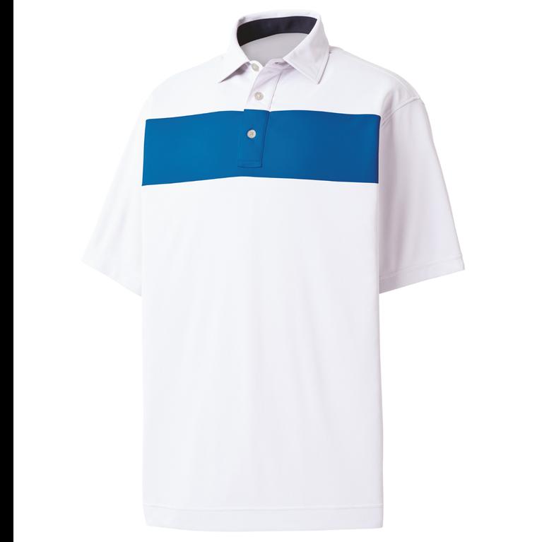 FootJoy Smooth Pique Pieced Stripe Self Collar Polo