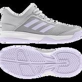 Alternate View 6 of Adidas Adizero Club K Juniors Tennis Shoe - Grey/Purple