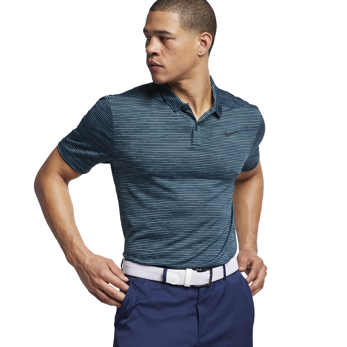 61913dde Nike Dry TW Striped Golf Polo | PGA TOUR Superstore