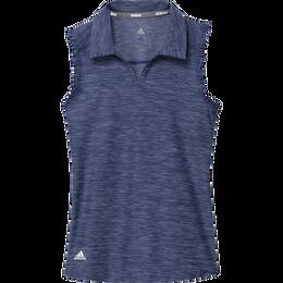 Girls Space-Dyed Sleeveless Polo Shirt