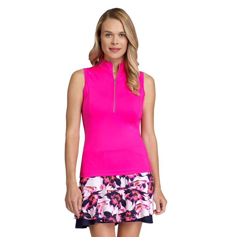 Gem Group: Aimee Sleeveless Solid Trim Inserts Top