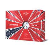 Chrome Soft Truvis Stars & Stripes Golf Balls
